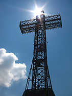 Cross on top of Mount Royal, Montreal.
