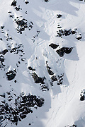 Verbier, Switzerland. March 20th 2010..X-Trem Verbier 2010 - Freeride World Tour.Bec des Rosses from Col des Gentianes.American skier Jaclyn Paaso