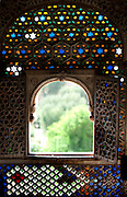 Stained glass window at the Junagadh Fort - Jaisalmer India 2011
