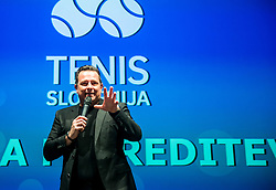 Rado Mulej during Slovenian Tennis personality of the year 2017 annual awards presented by Slovene Tennis Association Tenis Slovenija, on November 29, 2017 in Siti Teater, Ljubljana, Slovenia. Photo by Vid Ponikvar / Sportida