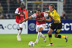13.09.2011, Signal Iduna Park, Dortmund, GER, UEFA CL, Gruppe F, Borussia Dortmund (GER) vs Arsenal London (ENG), im Bild.Theo Walcott (Arsenal #14) gegen Kevin Großkreutz (Dortmund #19)..// during the UEFA CL, group F, Borussia Dortmund (GER) vs Arsenal London on 2011/09/13, at Signal Iduna Park, Dortmund, Germany. EXPA Pictures © 2011, PhotoCredit: EXPA/ nph/  Mueller       ****** out of GER / CRO  / BEL ******