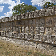 Architectural detail of Chichen Itza. Yucatan, Mexico.