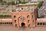 India, Delhi, The Red Fort, view of the city from a tower of the Pearl Mosque (Moti Masjid)