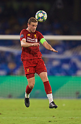 NAPLES, ITALY - Tuesday, September 17, 2019: Liverpool's captain Jordan Henderson during the UEFA Champions League Group E match between SSC Napoli and Liverpool FC at the Studio San Paolo. (Pic by David Rawcliffe/Propaganda)