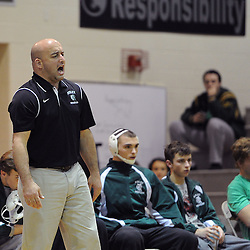 TOM KELLY IV &mdash; DAILY TIMES<br /> The Ridley head coach during the Ridley at Strath Haven high school wresting match, Thursday December 11, 2014.