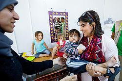 © Licensed to London News Pictures. 28/05/2017. Antakya, TURKEY. Former Minister of State for Faith and Communities, BARONESS WARSI meets Syrian children at Altınözü refugee camp on the Turkish-Syrian border in Antakya, Turkey on the first day of Ramadan. Photo credit: Tolga Akmen/LNP
