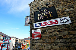 The Royal Dyche Pub, next to Turf Moor, named after Burnley manager Sean Dyche - Mandatory by-line: Robbie Stephenson/JMP - 30/08/2018 - FOOTBALL - Turf Moor - Burnley, England - Burnley v Olympiakos - UEFA Europa League Play-offs second leg