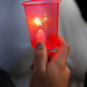 AIDS Candlelight Vigil remembrance of love ones who died of AIDS emotions of grief and sorrow