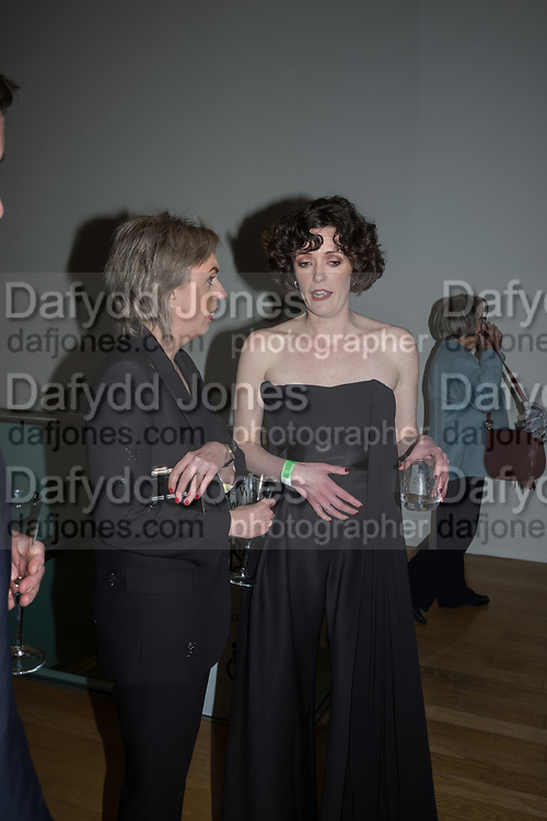 NINA MAE FOWLER, CASSIE BEADLE, opening party for the unveiling Nina Mae Fowler's new commission of portraits of British Film Directors, National Portrait gallery, London, The event  organised by The Cob Gallery, London 11 April 2019