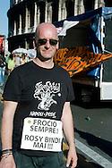 Roma 23 Giugno 2012.GayPride 2012.La Sfilata del Gay pride, la giornatà dell' orgoglio omossessuale per le vie della città