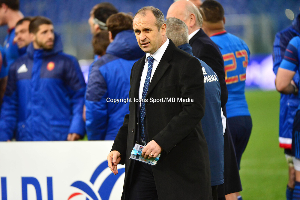 Philippe SAINT ANDRE - 15.03.2015 - Rugby - Italie / France - Tournoi des VI Nations -Rome<br /> Photo : David Winter / Icon Sport