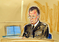 ©PRISCILLA COLEMAN ITV NEWS 03.09.03.SUPPLIED BY: PHOTONEWS SERVICE LTD OLD BAILEY.PIC SHOWS: ASSISTANT CHIEF CONSTABLE PAGE, AT THE IGH COURT TODAY WHERE HE GAVE EVIDENCE IN THE INQUIRY INTO THE DEATH OF DR DAVID KELLY-SEE STORY.ILLUSTRATION: PRISCILLA COLEMAN ITV NEWS