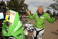 MOTORSPORT - DAKAR ARGENTINA CHILE 2010 - STAGE 14 - SANTA ROSA (ARG) / BUENOS AIRES (ARG) - 16/01/2010- PHOTO : ERIC VARGIOLU / DPPI<br /> PAL ULLEVALSETER  ( NOR ) - KTM   - AMBIANCE - PORTRAIT