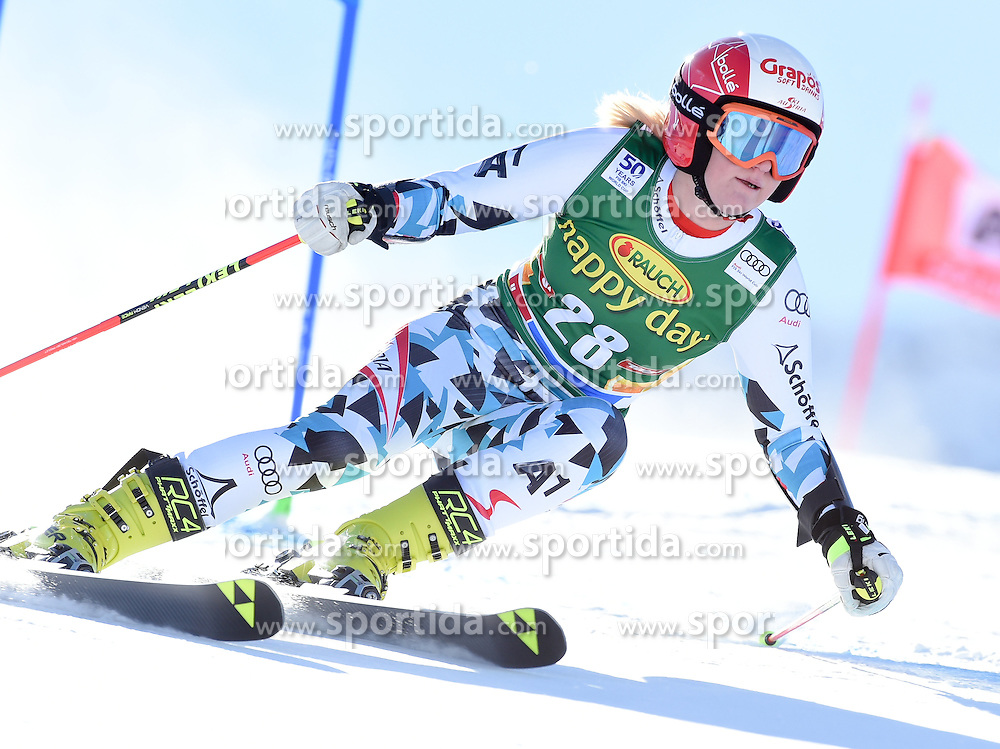 22.10.2016, Rettenbachferner, Soelden, AUT, FIS Weltcup Ski Alpin, Soelden, Riesenslalom, Damen, 1. Durchgang, im Bild Katharina Truppe of Austria // in action during 1st run of ladies Giant Slalom of the FIS Ski Alpine Worldcup opening at the Rettenbachferner in Soelden, Austria on 2016/10/22. EXPA Pictures © 2016, PhotoCredit: EXPA/ Erich Spiess