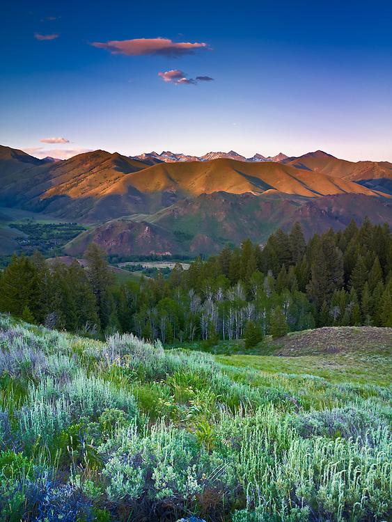 Pioneer Mountain Range, near Sun Valley Idaho