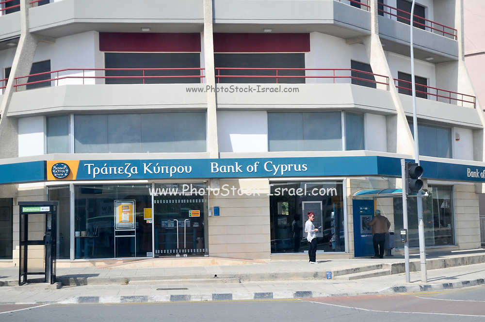 Branch of the Bank of Cyprus. Photographed in Limassol, Cyprus