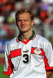 MINSK, BELARUS - Saturday, September 4, 1999: Belarus' Andrei Lavrik before the UEFA Euro 2000 Qualifying Group One match against Wales at the Dinamo Stadium. (Mandatory credit: David Rawcliffe/Propaganda)