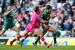 Niall Morris of Leicester Tigers goes on the attack - Photo mandatory by-line: Patrick Khachfe/JMP - Mobile: 07966 386802 25/04/2015 - SPORT - RUGBY UNION - Leicester - Welford Road - Leicester Tigers v London Welsh - Aviva Premiership