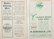 All Ireland Senior Hurling Championship Final,.Brochures,.04.09.1949, 09.04.1949, 4th September 1949, .Tipperary 3-11, Laois 0-3, .Minor Kilkenny v Tipperary, .Senior Tipperary v Laois, .Croke Park, ..Advertisements, Dublin Evening Mail, Varians Brushes, M. Rowan & Co Ltd Seed Growers and Seed Merchants, ..Articles, When they last won,  ..Songs, Artane School Band, Potpourri of Irish Marches, Selections from the Sullivan Operas, Fantasia on Balfe's Operas, Excerpts from Victor Herbert, Medley of Old-Time Dances Festivalia, Selection: Songs from the Old Folks, National Anthem,