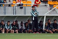 FOOTBALL - FRIENDLY GAMES 2007/05 - RC LENS v AS SAINT ETIENNE - 09/07/2004 - ELIE BAUP (ST ETIENNE COACH) - PHOTO STEPHANE REIX/ FLASH PRESS