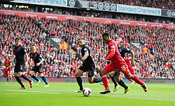 LIVERPOOL, ENGLAND - Saturday, October 5, 2013: Liverpool's Daniel Sturridge scores the second goal against Crystal Palace during the Premiership match at Anfield. (Pic by David Rawcliffe/Propaganda)