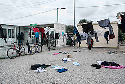 October 22, 2016 - Calais, France - Daily life in Calais, France, on 22 October 2016. Around 10 000 migrants and refugees live in the camp in Calais, in the North of France, called the Jungle. On monday the 24th of October, the destruction of the camp will start. For those who are willing to stay in France, a relocation in centers all around the French territory is proposed. (Photo by Guillaume Pinon/NurPhoto) (Credit Image: © Guillaume Pinon/NurPhoto via ZUMA Press)