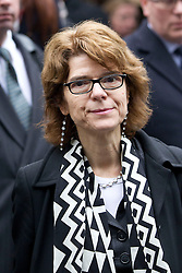 © Licensed to London News Pictures. 07/03/2013. London, UK. Economist Vicky Pryce leaves Southwark Crown Court in London today (07/03/2013) after being found guilty of perverting the course of justice in a case involving her former husband, the ex-politician Chris Huhne, and a 2003 speeding case. Photo credit: Matt Cetti-Roberts/LNP