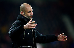 Manchester City manager Josep Guardiola reacts. - Mandatory by-line: Alex James/JMP - 13/02/2017 - FOOTBALL - Vitality Stadium - Bournemouth, England - Bournemouth v Manchester City - Premier League
