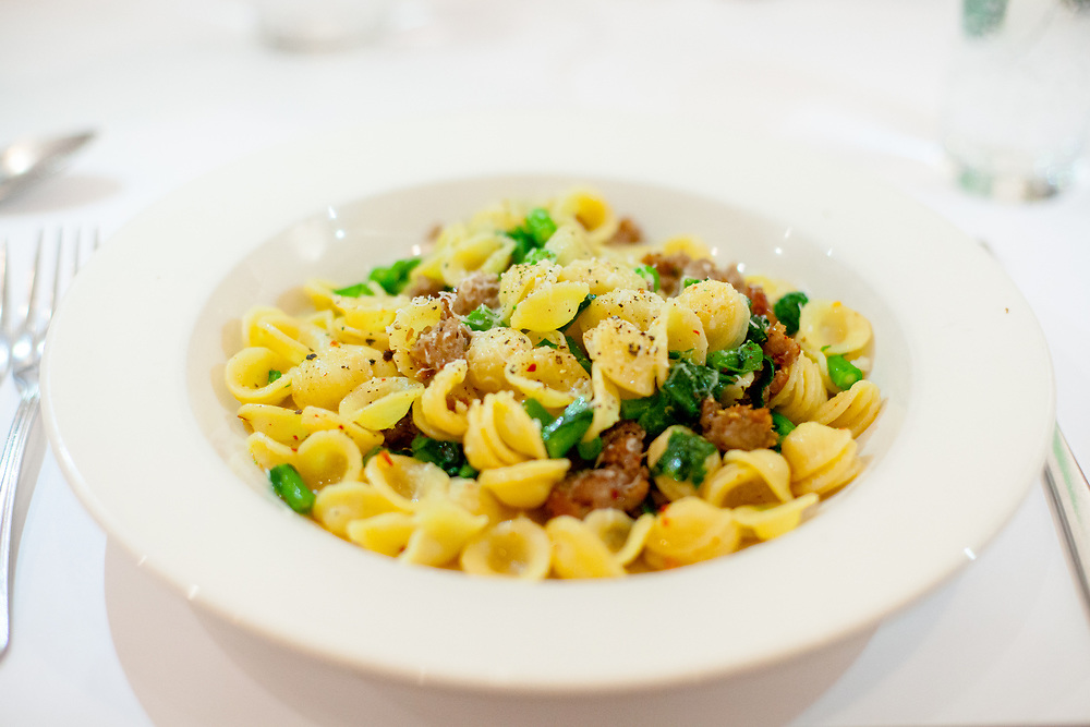 Sausage & Broccoli Rabe Orecchiette at Basta Pasta (P$FREE) - Dev Lunch January