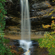 """""""Falls at Munising""""<br /> <br /> Beautiful Munising Falls during the month of October with slight fall foliage just beginning!"""
