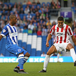 Brighton & Hove Albion's Chris O'Grady moves forward during the English Capital One Cup 1st Round between Brighton & Hove Albion FC and Cheltenham Town FC at the American Express Community Stadium, Brighton, 12th August 2014 © Phil Duncan | SportPix.org.uk