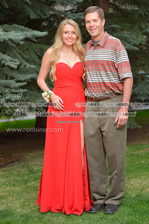 Vail Mountain School Prom Night; Hayley Norvell, Mike Norvell