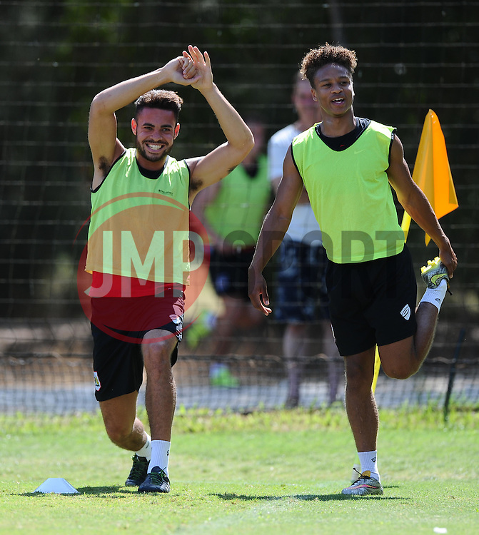 Derrick Williams of Bristol City and Bobby Reid of Bristol City  - Photo mandatory by-line: Joe Meredith/JMP - Mobile: 07966 386802 - 17/07/2015 - SPORT - Football - Albufeira -  - Pre-Season Training