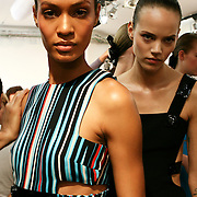 Milan, Italy, September 24, 2010. Backstage at Versace during the Milan Women's Fashion Week Spring/Summer 2011.