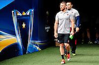 Matt GITEAU / Bryan HABANA - 01.05.2015 - Captains' Run de Toulon avant la finale - European Rugby Champions Cup -Twickenham -Londres<br /> Photo : David Winter / Icon Sport