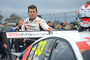 20th May 2018, Winton Motor Raceway, Victoria, Australia; Winton Supercars Supersprint Motor Racing; Garth Tander stands with the number 33 Garry Rogers Motorsport Holden Commodore ZB ahead of race 14 of the 2018 Supercars Championship
