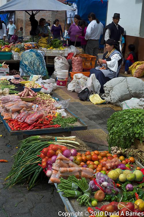 Produce at market in Otavalo, Imbabura, Ecuadpr