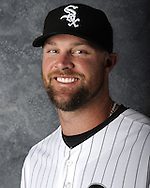 GLENDALE, AZ - MARCH 03:  John Danks of the Chicago White Sox poses for his official team headshot during photo day on March 3, 2012 at The Ballpark at Camelback Ranch in Glendale, Arizona. (Photo by Ron Vesely)   Subject:   John Danks