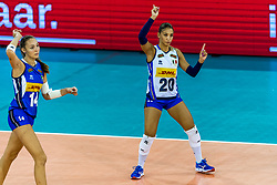 11-08-2018 NED: Rabobank Super Series Italy - Russia, Eindhoven<br /> Russia defeats Italiy with 3-0 and goes to the final on sunday / Beatrice Parrocchiale #20 of Italy, Elena Pietrini #14 of Italy
