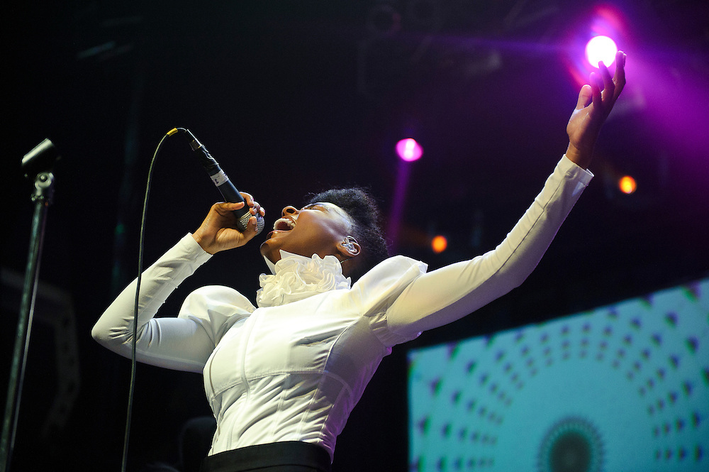 Janelle Monae performing at Terminal 5, NYC in support of her new album, The Archandroid. September 17, 2010. Copyright © 2010 Matt Eisman. All Rights Reserved.