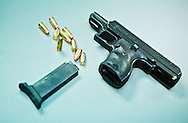 New Orleans Dec. 26, 2011, Gun and bullets recovered at the scene of a chase in the 9th Ward.New Orleans murder rate is among the highest in America and is considered to be one of the most dangerous cities in the world.
