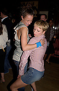 Leah Wood and Sara Cox, Stella McCartney shop opening after-party, Annabels, Berkeley Sq.  London. 15 May 2003. © Copyright Photograph by Dafydd Jones 66 Stockwell Park Rd. London SW9 0DA Tel 020 7733 0108 www.dafjones.com
