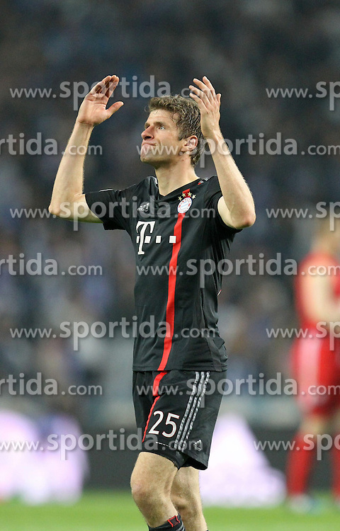 15.04.2015, Estadio do Dragao, Porto, POR, UEFA CL, FC Porto vs FC Bayern Muenchen, Viertelfinale, Hinspiel, im Bild enttaeuschung bei Thomas Mueller #25 (FC Bayern Muenchen) // during the UEFA Champions League quarter finals 1st Leg match between FC Porto vs FC Bayern Muenchen at the Estadio do Dragao in Porto, Portugal on 2015/04/15. EXPA Pictures &copy; 2015, PhotoCredit: EXPA/ Eibner-Pressefoto/ Kolbert<br /> <br /> *****ATTENTION - OUT of GER*****
