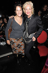 Left to right, TRACEY EMIN and AMANDA ELIASCH at a party to celebrate the publication of Cloak & Dagger Butterfly by Amanda Eliasch held at the Soho Revue Bar, London on 17th November 2008.