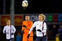 UDEN, Netherlands U17 - Norway U17, interland, seizoen 2012-2013, 26-3-2013, Norway U17 player Morten Thorsby (R), Netherlands U17 player Bart Nieuwkoop (M).
