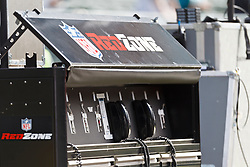 OAKLAND, CA - OCTOBER 21: General view of NFL Red Zone communications equipment on the sidelines before the game between the Oakland Raiders and the Jacksonville Jaguars at O.co Coliseum on October 21, 2012 in Oakland, California. The Oakland Raiders defeated the Jacksonville Jaguars 26-23 in overtime. Photo by Jason O. Watson/Getty Images) *** Local Caption ***