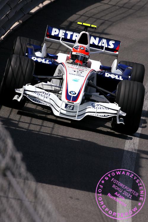 24.05.2007 Monte Carlo, Monaco, .Robert Kubica (POL),  BMW Sauber F1 Team  - Formula 1 World Championship, Rd 5, Monaco Grand Prix, Thursday Practice.FOT. XPB.CC / WROFOTO.*** POLAND ONLY !!! ***.*** NO INTERNET / MOBILE USAGE !!! ***