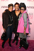 16 October 2010-New York, NY- l to r: Jocelyn Taylor, Harriet Cole, June Ambrose at The Black Girls Rock! Shot Caller's Reception Presented by Beverly Bond and BET held at Fred's at Barneys New York on October 15, 2010 in New York City. ..BLACK GIRLS ROCK! Inc. is 501(c)3 non-profit youth empowerment and mentoring organization established to promote the arts for young women of color, as well as to encourage dialogue and analysis of the ways women of color are portrayed in the media. Photo Credit:.Terrence Jennings..