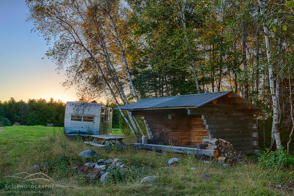 The Roach Farm Campsite on the International Appalachian Trail. Merrill, Maine - near Smyrna Mills. HDR.