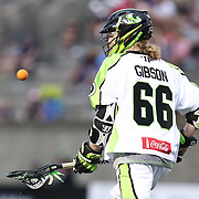 Matt Gibson #66 of the New York Lizards catches the ball during the game at Harvard Stadium on July 19, 2014 in Boston, Massachusetts. (Photo by Elan Kawesch)